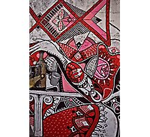 Graffiti in Red, White and Black Photographic Print