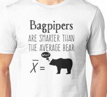 Funny Bagpipes T-shirt - Average Bear Unisex T-Shirt