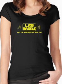 Lab Wars (yellow) Women's Fitted Scoop T-Shirt
