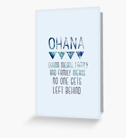 Ohana Means Family Greeting Card