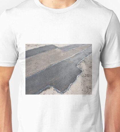 Laying new asphalt patching method Unisex T-Shirt