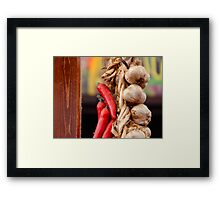Garlic and Chilli Framed Print