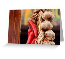 Garlic and Chilli Greeting Card