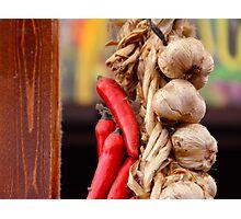 Garlic and Chilli Photographic Print