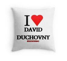 I Love David Duchovny Throw Pillow