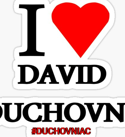 I Love David Duchovny Sticker