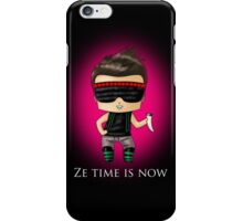 Ze Time Is Now. iPhone Case/Skin