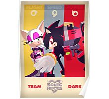Team Dark - Sonic the Hedgehog Poster