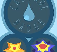 Cascade Badge - Kanto Region - Pokemon by H-Driscolls