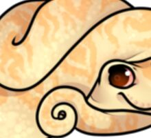 Yellow Albino Snake Sticker