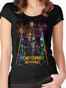 CHRISTMAS GREETINGS Women's Fitted Scoop T-Shirt