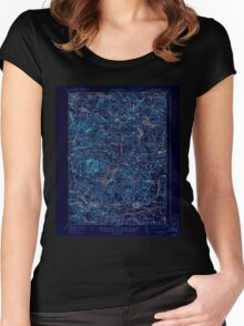 USGS TOPO Map New Hampshire NH Mt Pawtuckaway 330229 1919 62500 Inverted Women's Fitted Scoop T-Shirt