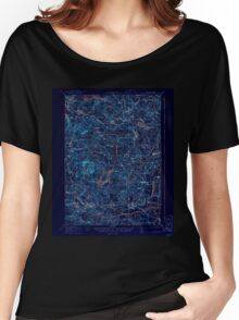 USGS TOPO Map New Hampshire NH Mt Pawtuckaway 330229 1919 62500 Inverted Women's Relaxed Fit T-Shirt