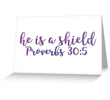 Proverbs 30:5 Greeting Card