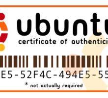 Ubuntu sticker Serial  Sticker