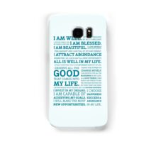 Positive Affirmations (Colour) Samsung Galaxy Case/Skin