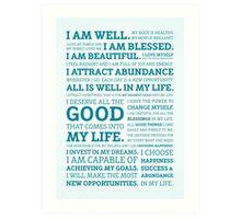Positive Affirmations (Colour) Art Print