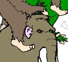 Bigfoot Race  Sticker