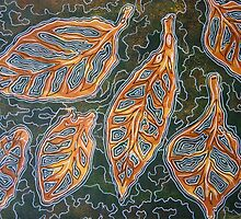 Autumn Leaf Mixed Media Series 2 by Heather Holland by Heatherian