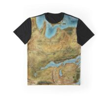 Dragon Age Thedas Map Graphic T-Shirt