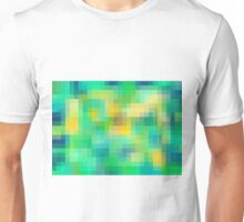 green blue and yellow pixel abstract background Unisex T-Shirt
