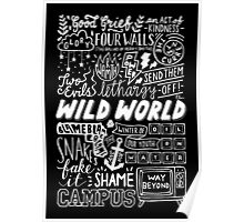 WILD WORLD - SONG TITLES (DARK) Poster