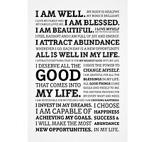 Positive Affirmations (Black on White/Grey) Photographic Print