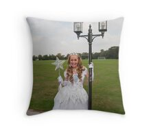 Pop idol Sonia as the good fairy in Sleeping Beauty Throw Pillow