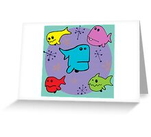 Fishes and Stars Greeting Card