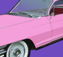 Pink Cadillac - Classic American Retro Car  Sticker