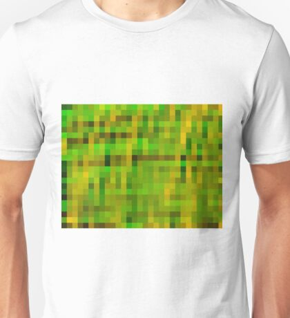green black and yellow pixel abstract background Unisex T-Shirt