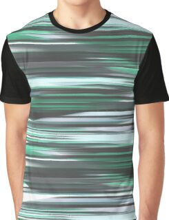 Abstract, green stripes Graphic T-Shirt