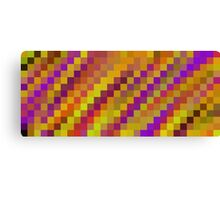 purple yellow brown orange pixel abstract background Canvas Print