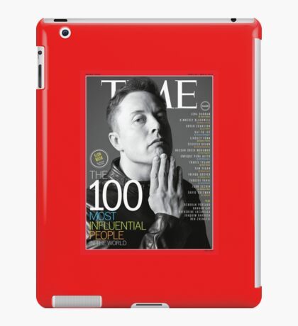 Elon Musk 100 most influential people. iPad Case/Skin