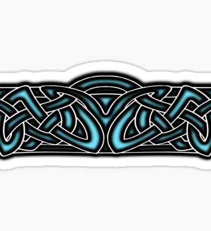 Celtic Knotwork Design Blue Sticker