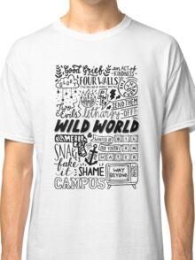 WILD WORLD - SONG TITLES (LIGHT) Classic T-Shirt