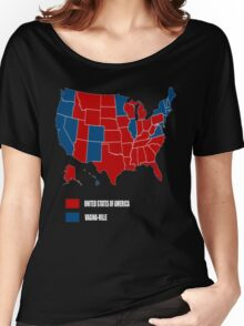 election map 2016 america vs vagina-ville Women's Relaxed Fit T-Shirt