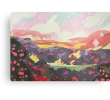Minimalist Strawberry Battlefield Canvas Print