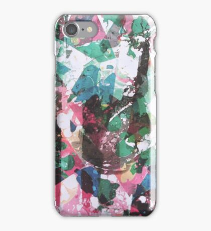 Landscape through splinter glass iPhone Case/Skin