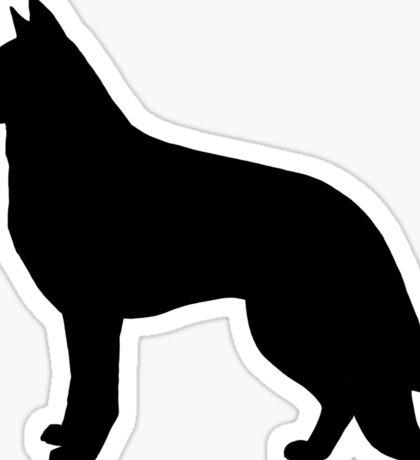 German Shepherd Dog Silhouette(s) Sticker