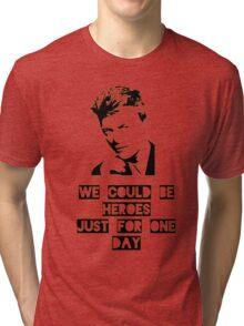 Heroes - David Bowie Tri-blend T-Shirt