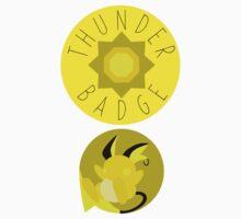 Thunder Badge - Kanto Region - Pokemon Kids Tee