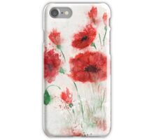 Poppies in the fog iPhone Case/Skin