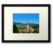The monastery of Schlaegl | architectural photography Framed Print