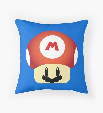 Mario GROW UP Mushroom Throw Pillow