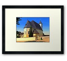 The village church of Sankt Stefan II | architectural photography Framed Print