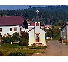 The village church of Hintenberg I   architectural photography Photographic Print