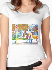 No Entry Women's Fitted Scoop T-Shirt