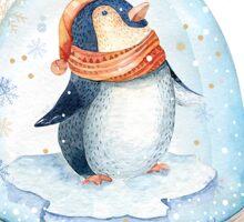 Penguin Snow Globe Sticker