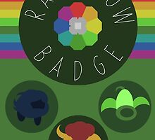 Rainbow Badge - Kanto Region - Pokemon by H-Driscolls